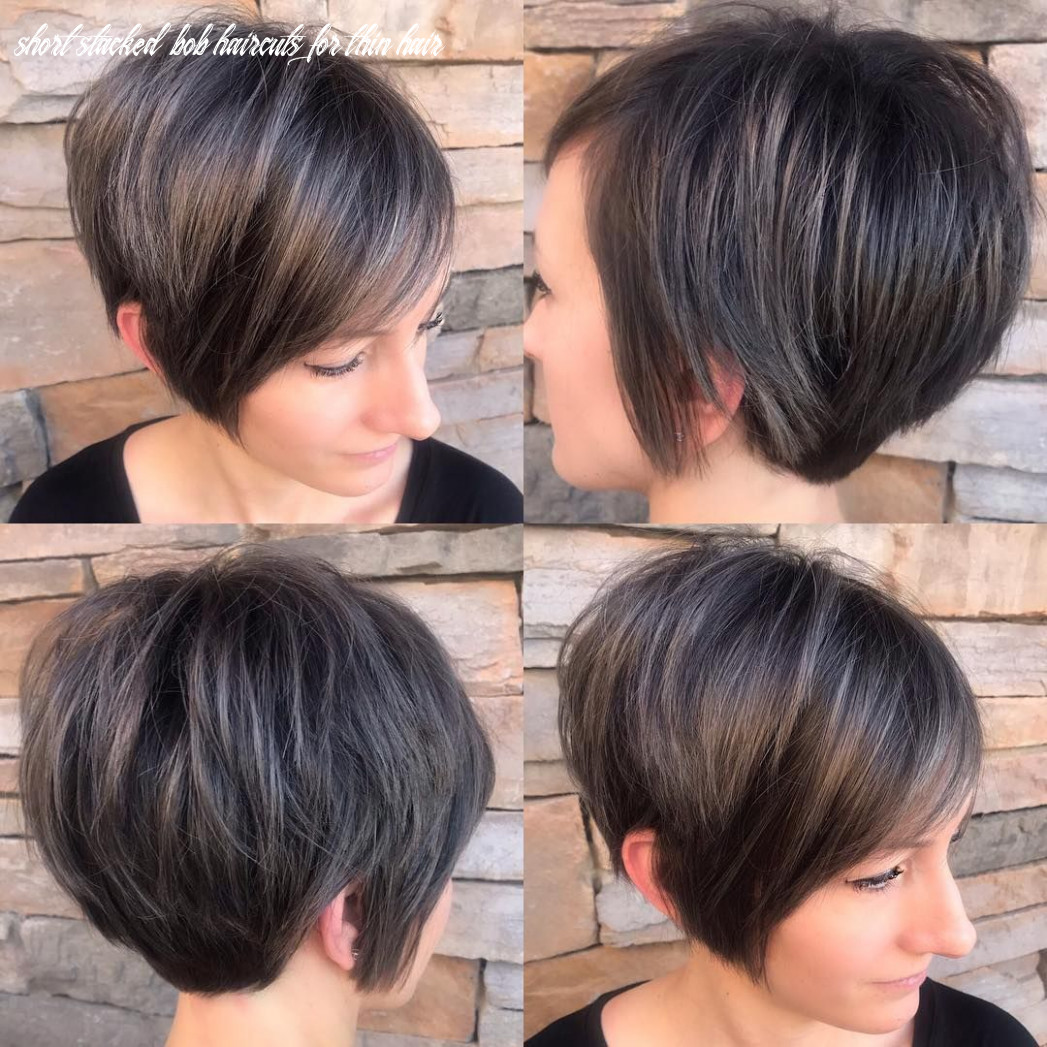11 short hairstyles for fine hair   short stacked bob haircuts