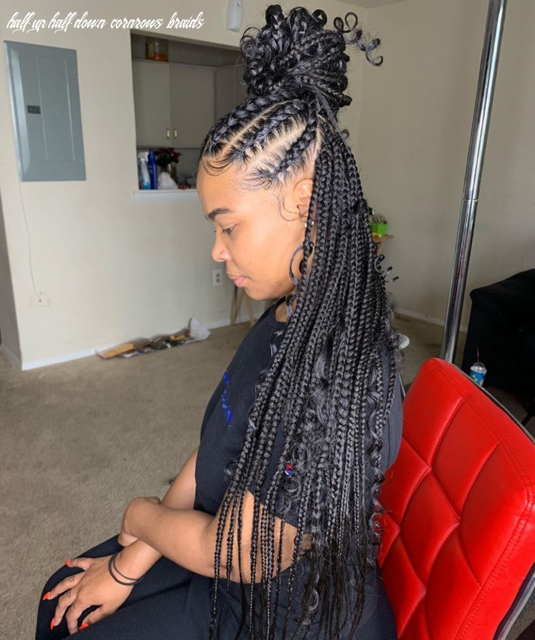 Half up half down looking gorgeous @braidsasyoulikeit (with images