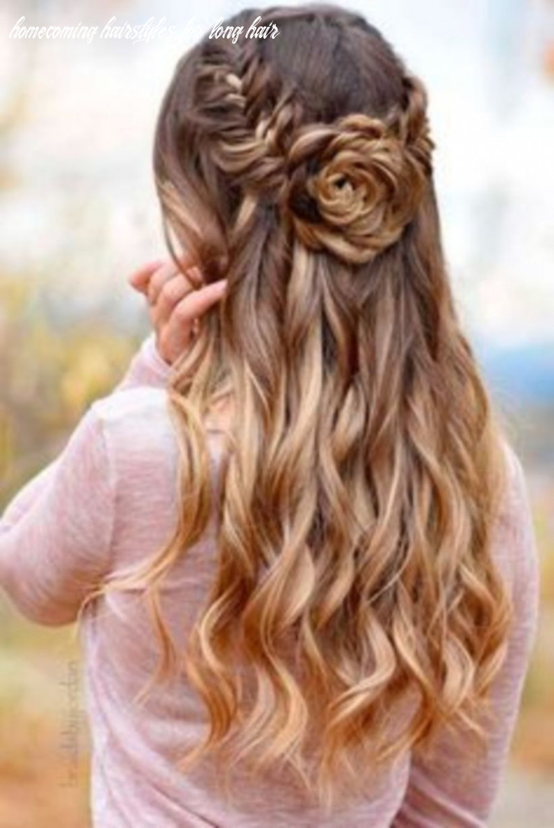 Homecoming hairstyles with flowers 12 diverse homecoming