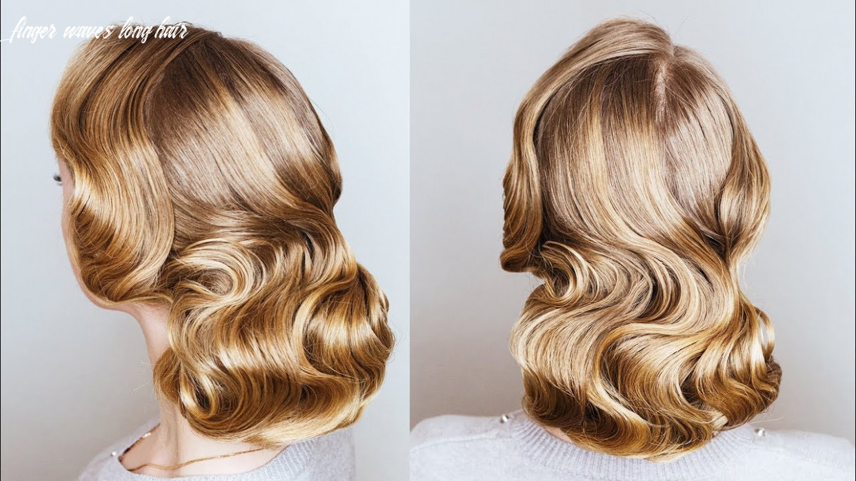 How to make finger wave with a flat iron   finger wave updo for long thin hair on new year eve finger waves long hair