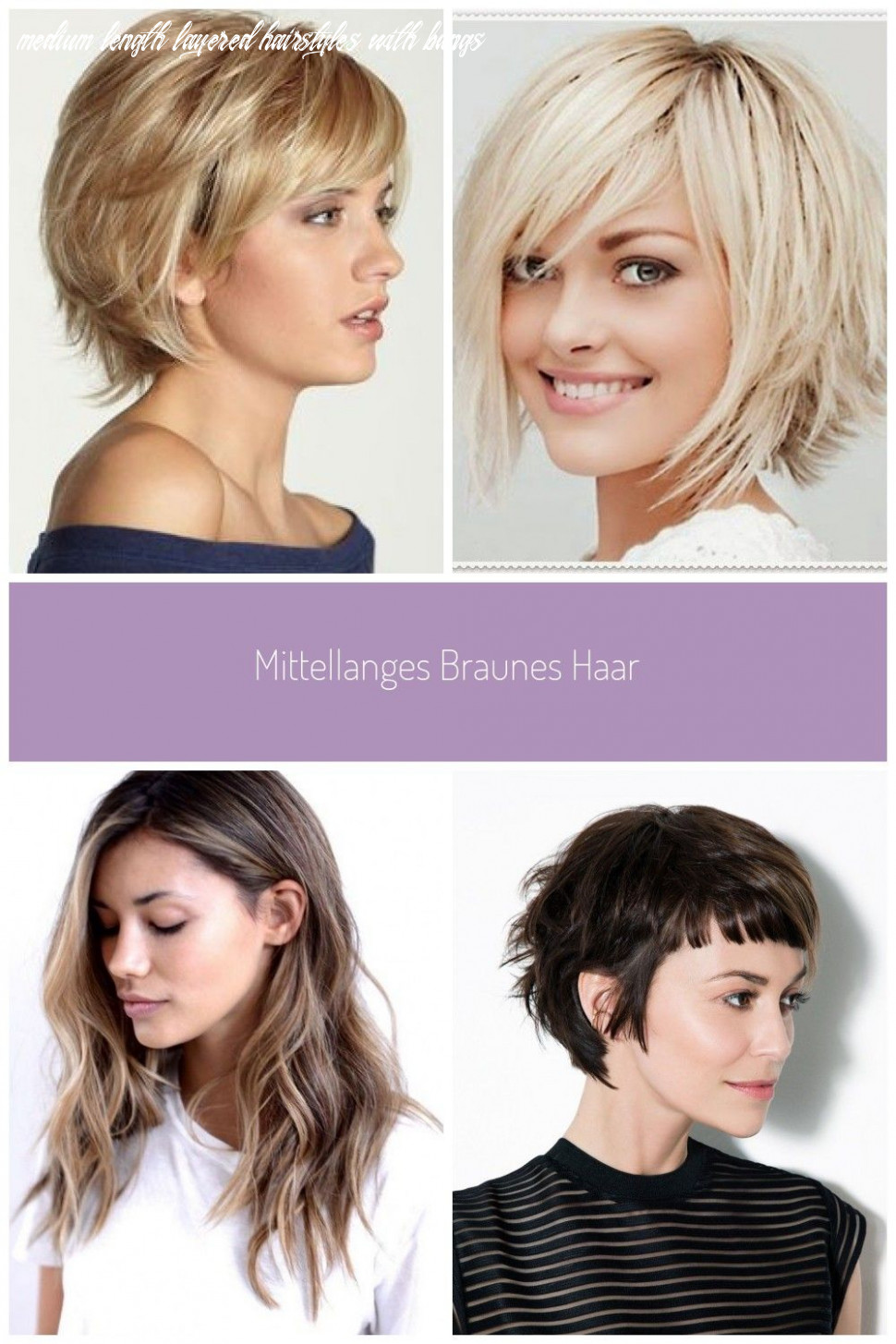 Image result for medium length layered hairstyles with bangs for