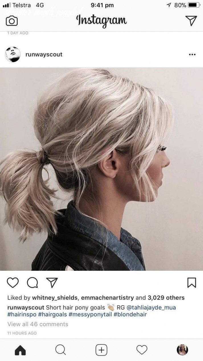 New free ponytail hairstyles shoulder length thoughts in 11