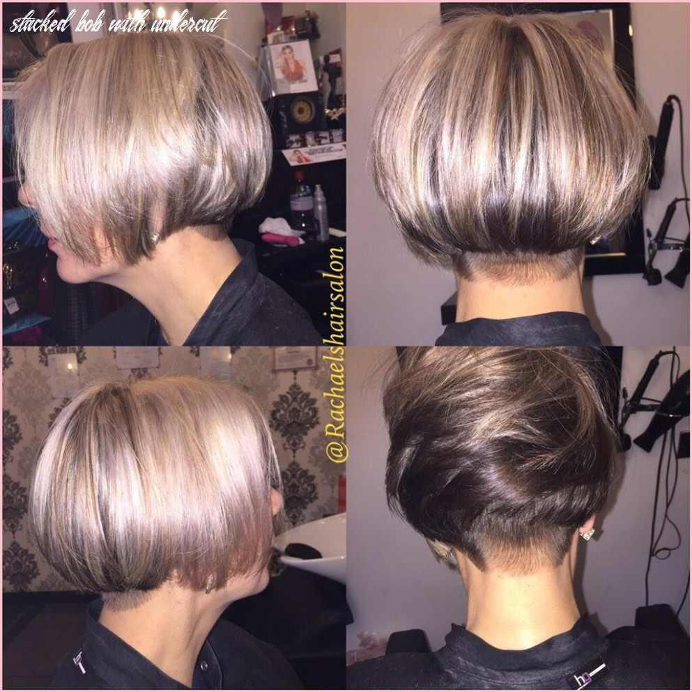 Pin on hair, nails, and clothes stacked bob with undercut