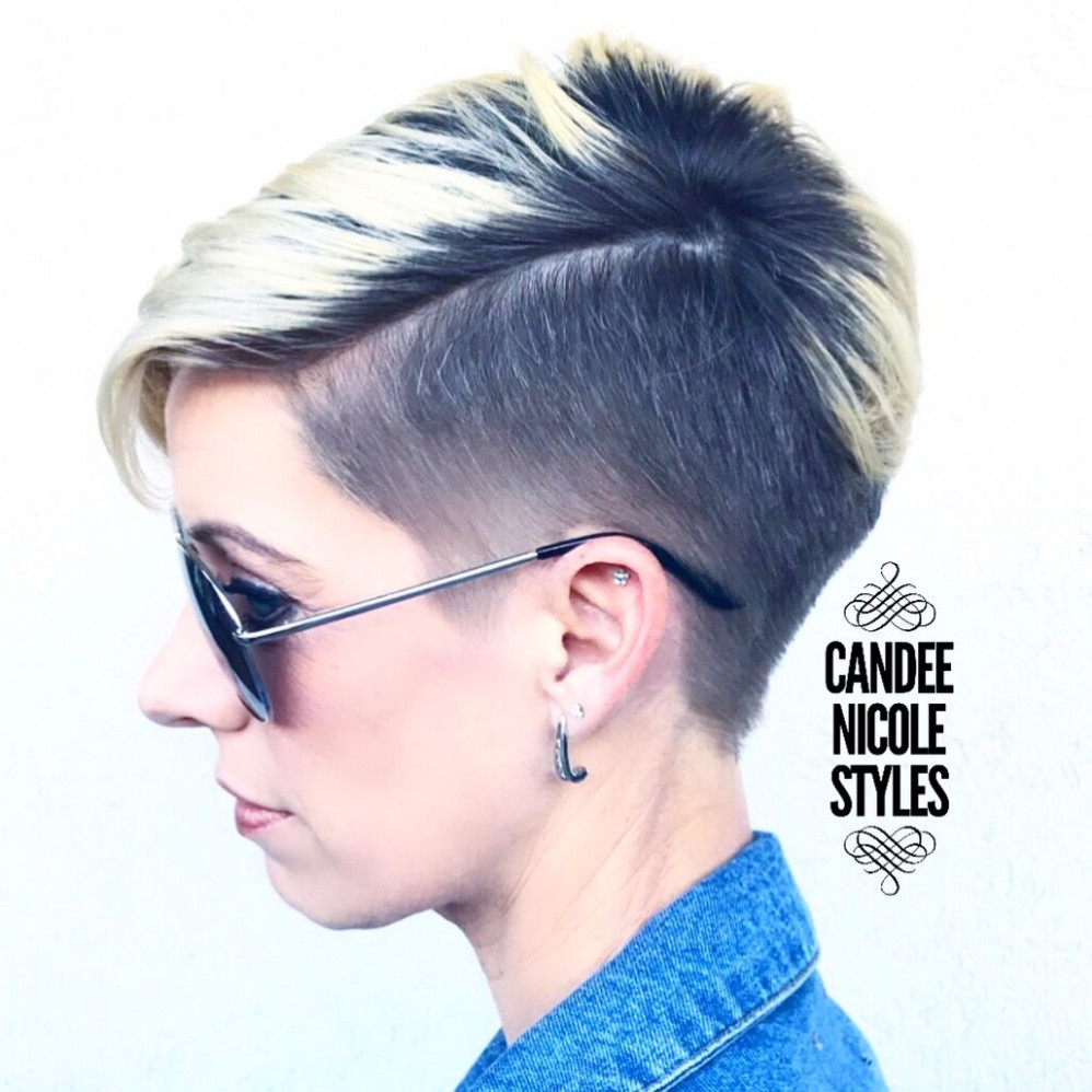 Pin on hair styles side shaved pixie cut