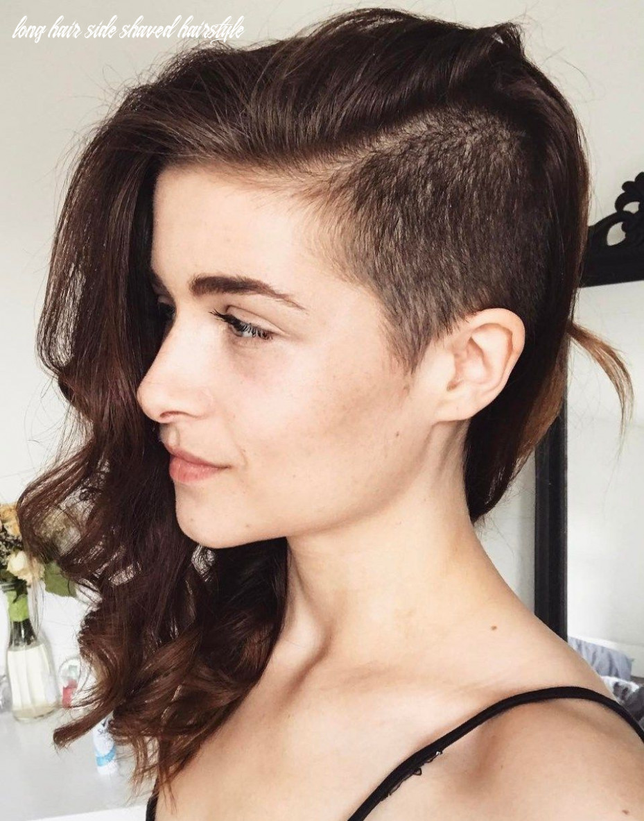Pin on undercut hair long hair side shaved hairstyle