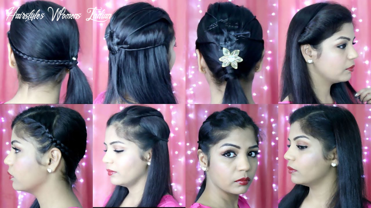 10 quick and easy hairstyles | indian party heatless hairstyles | superprincessjo hairstyles womens indian