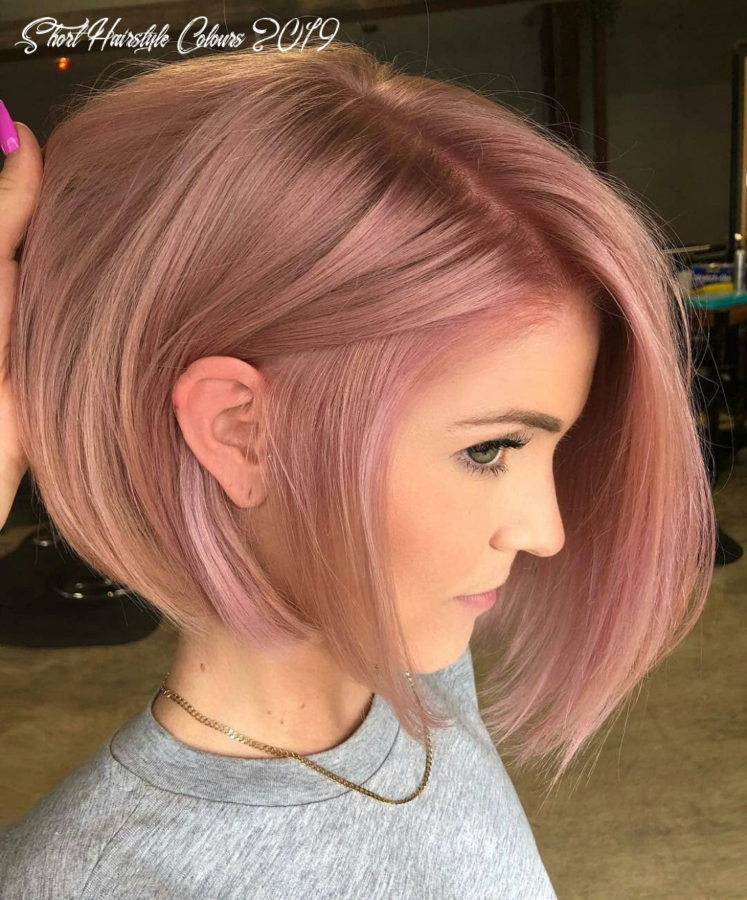 10 short hairstyles for fine hair   rose hair color, hair color