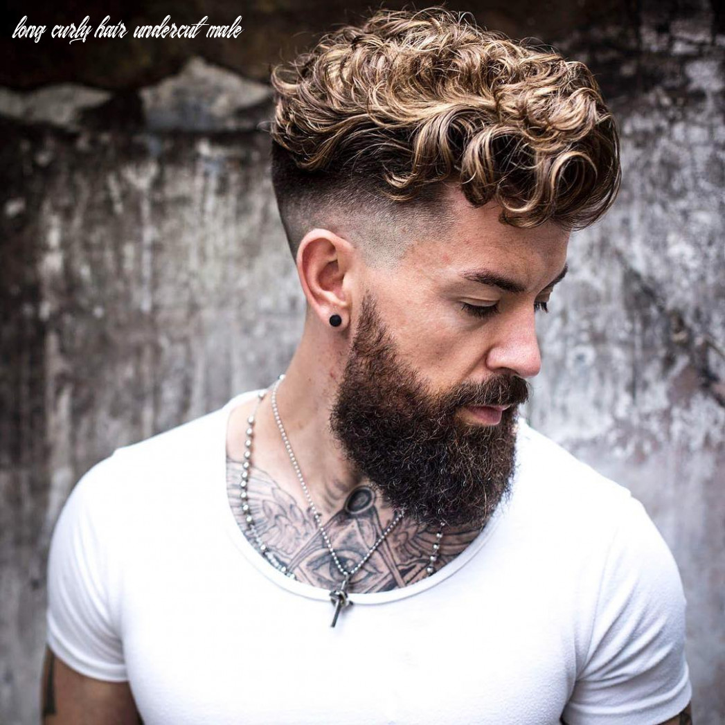 10 trendy men haircuts for naturally curly hair styleoholic long curly hair undercut male
