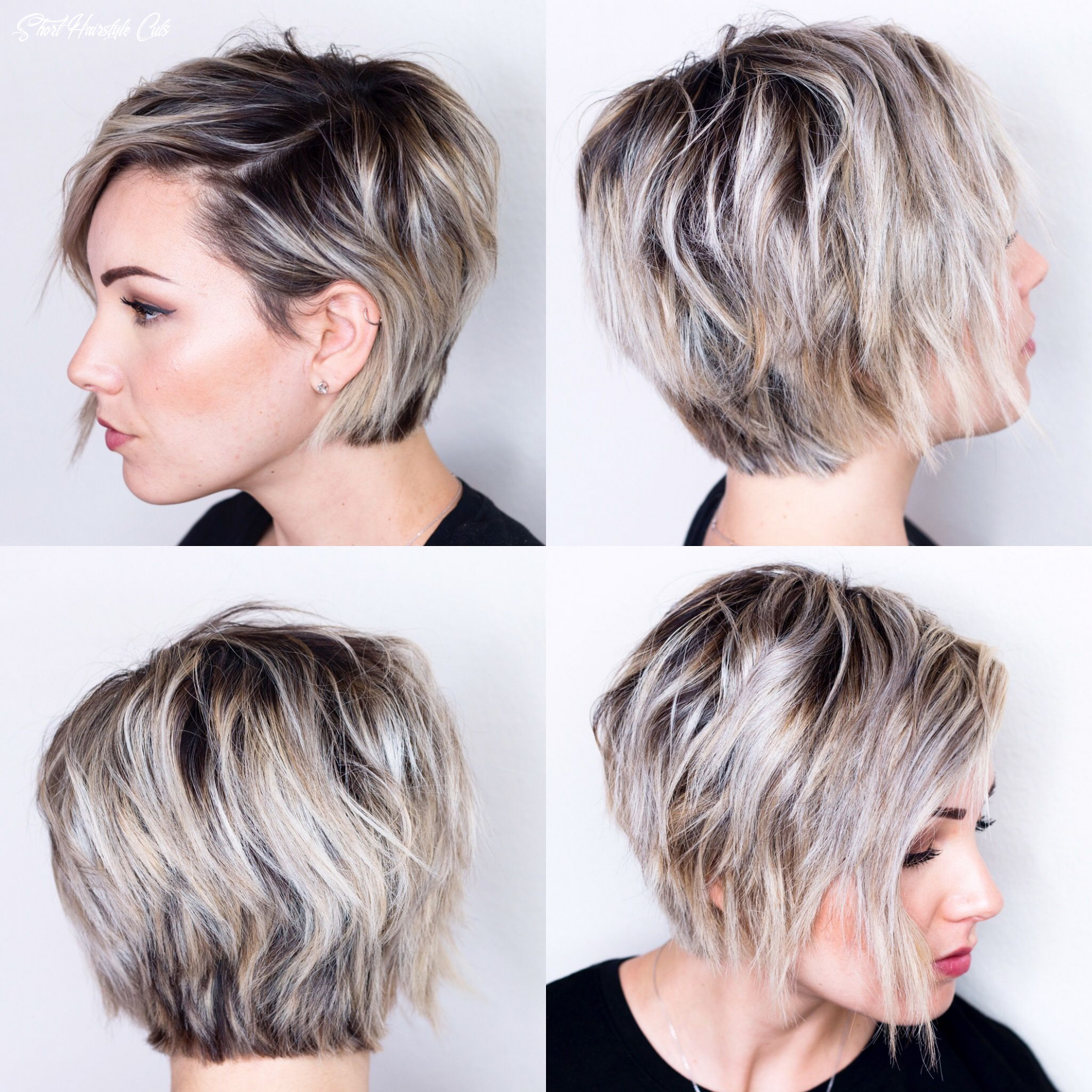 10 view of short hair   oval face hairstyles, growing out short