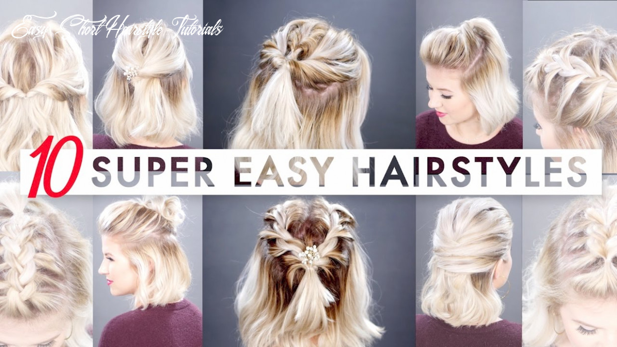 11 easy half up hairstyles for short hair tutorial   milabu easy short hairstyle tutorials