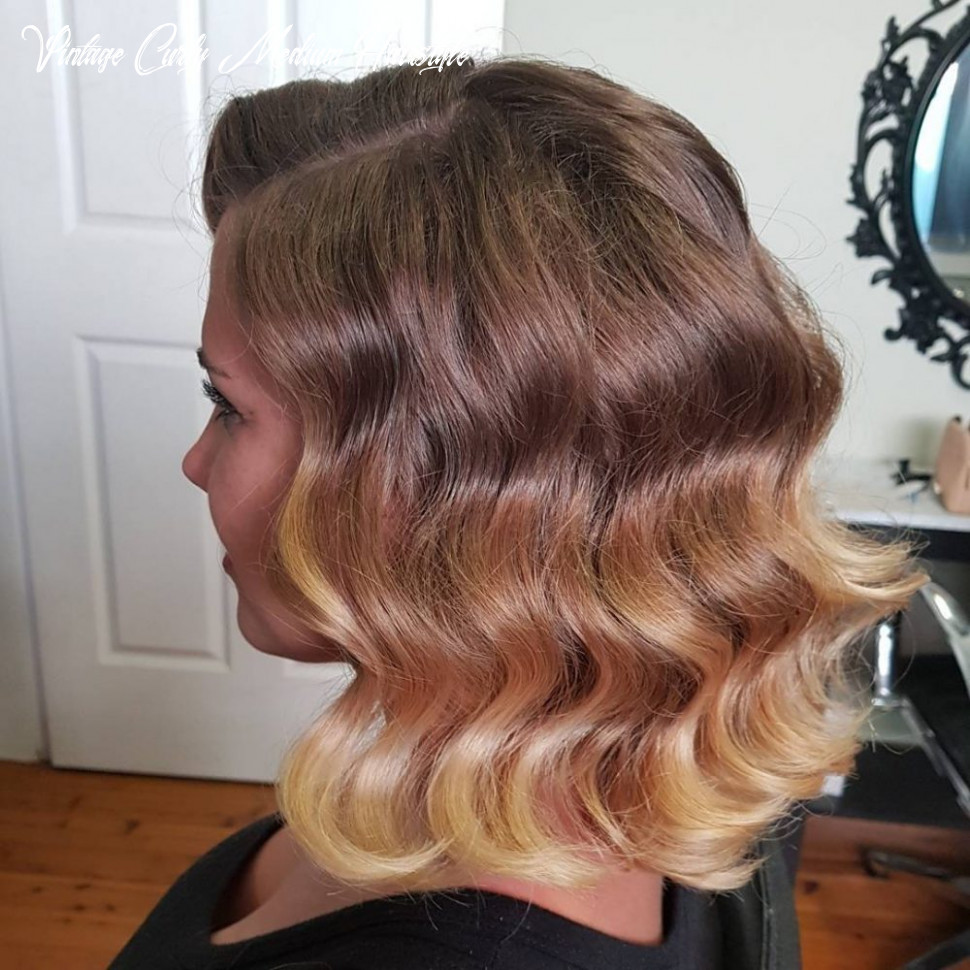 11 easy retro & vintage hairstyles to try this year vintage curly medium hairstyle