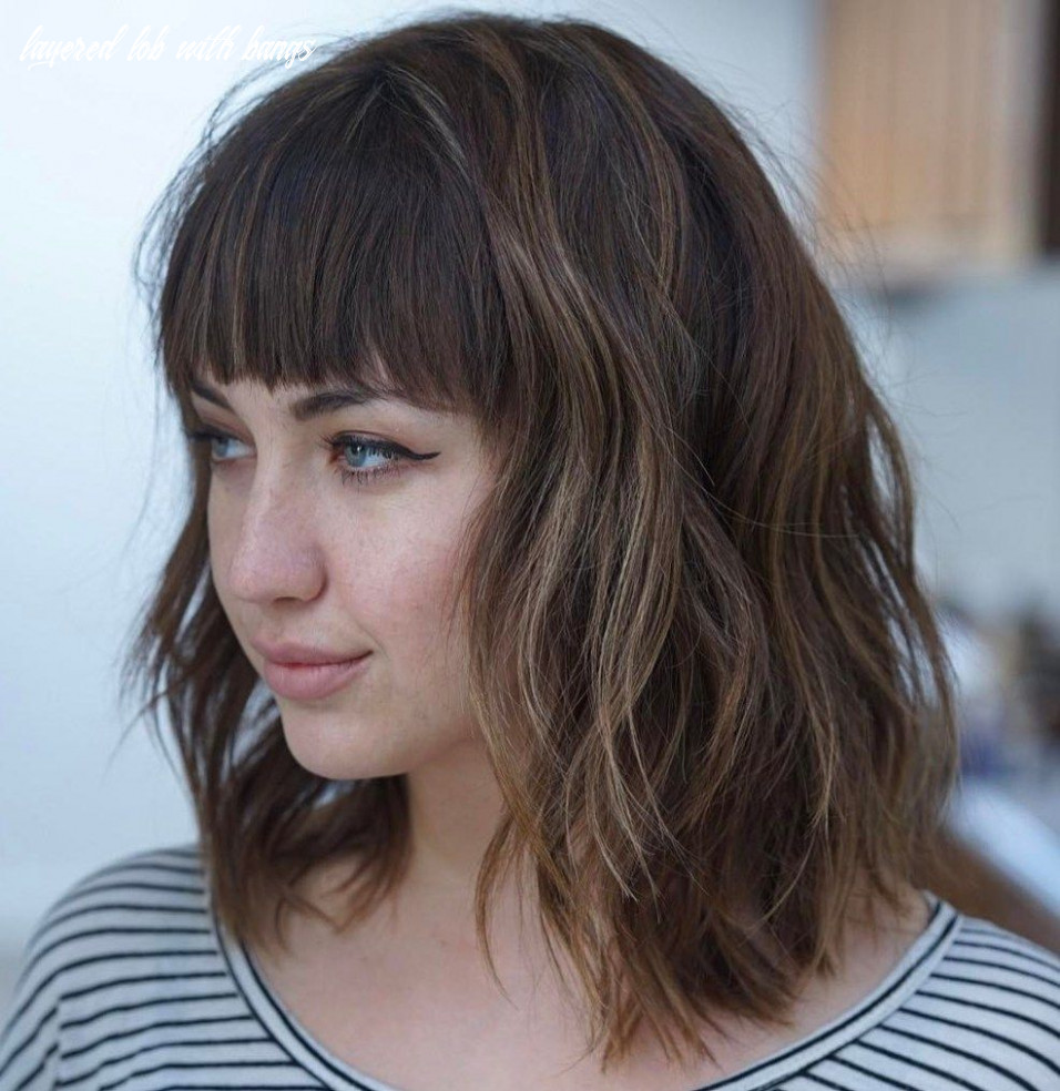 11 modern ways to style a long bob with bangs   long bob with