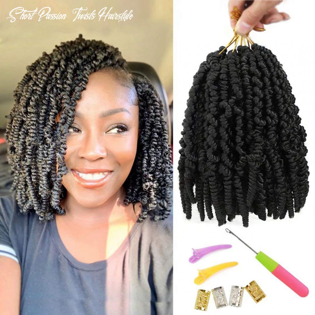 11 packs pre twisted spring twist hair 11 inch pre twisted passion twists crochet braids for bob spring twists short curly bomb twist braiding hair hair