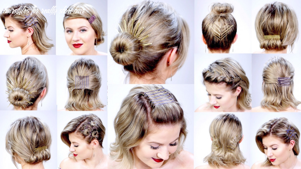 11 super easy hairstyles with bobby pins for short hair | milabu hairstyles for really short hair