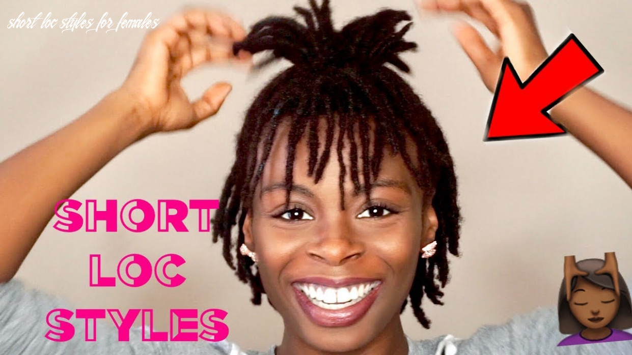 12 short easy loc styles ??   cute hairstyles for short dreads ✨   #darrencetv short loc styles for females