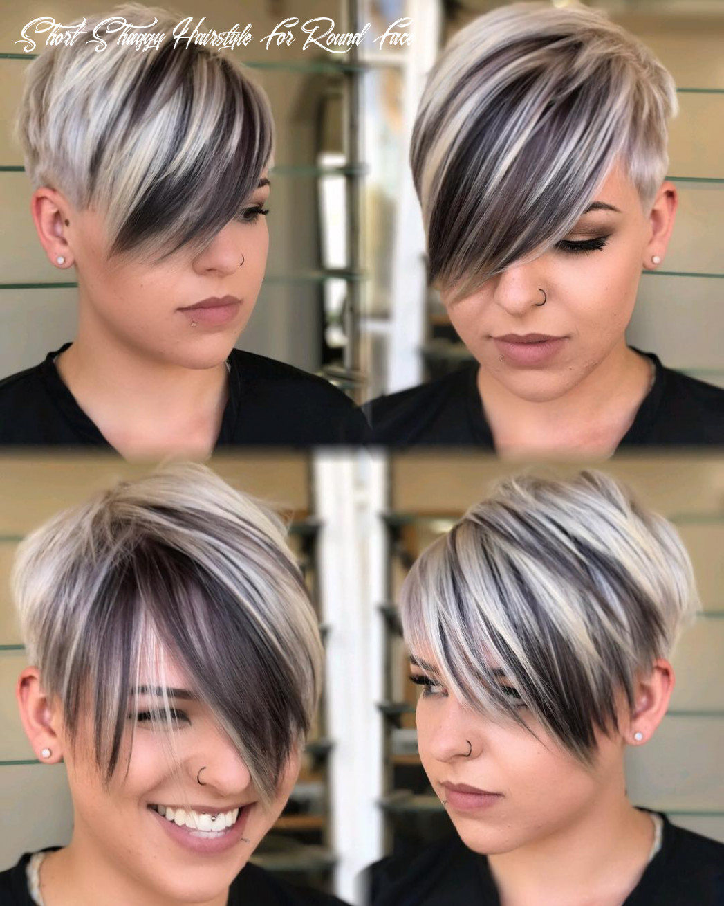 12 short hairstyles for round faces with slimming effect hadviser short shaggy hairstyle for round face