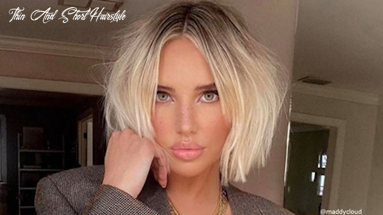 12 ultra modern short hairstyles for thin hair   fashionisers© thin and short hairstyle