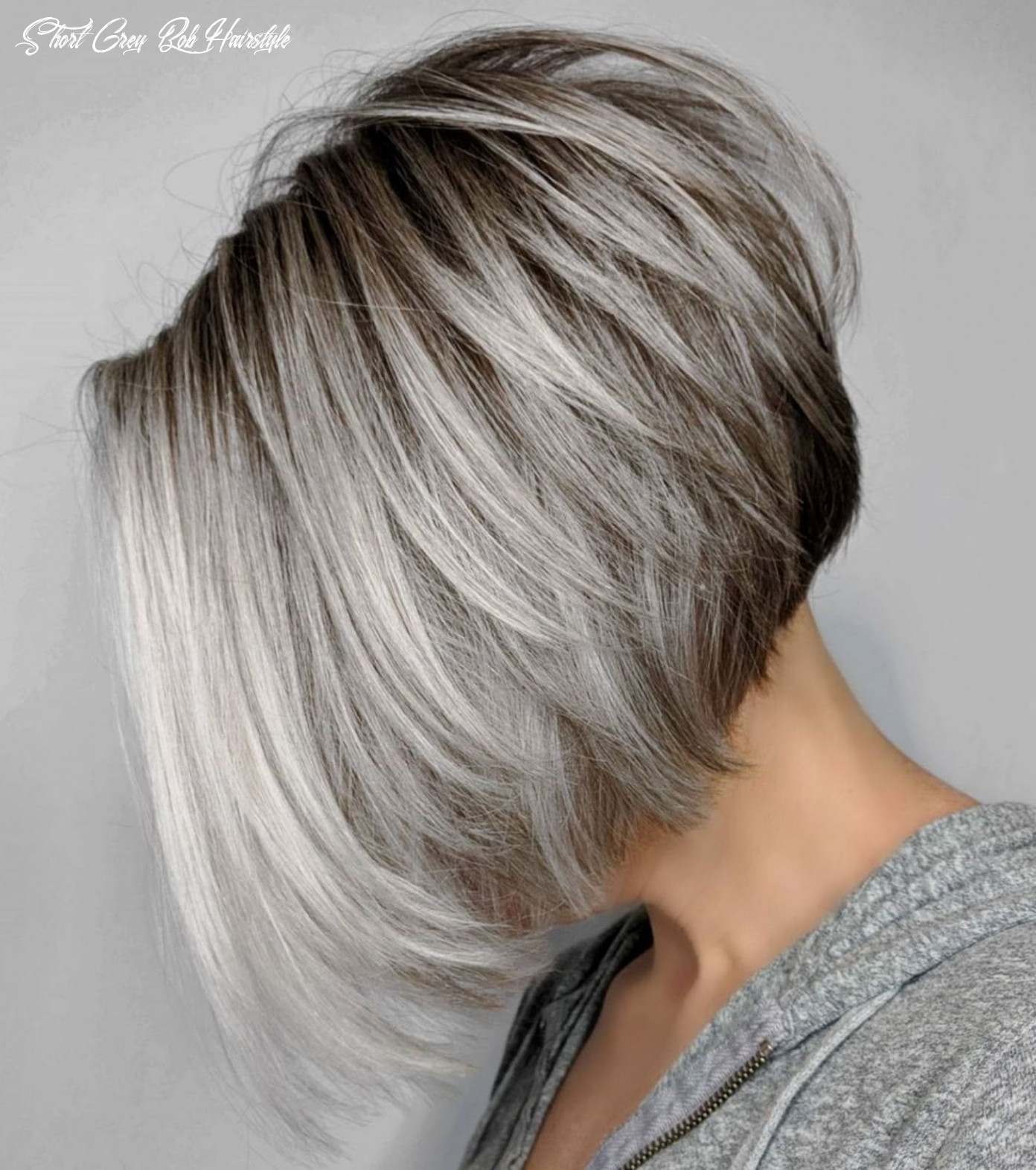 8 best short bob haircuts and hairstyles for women   grey bob
