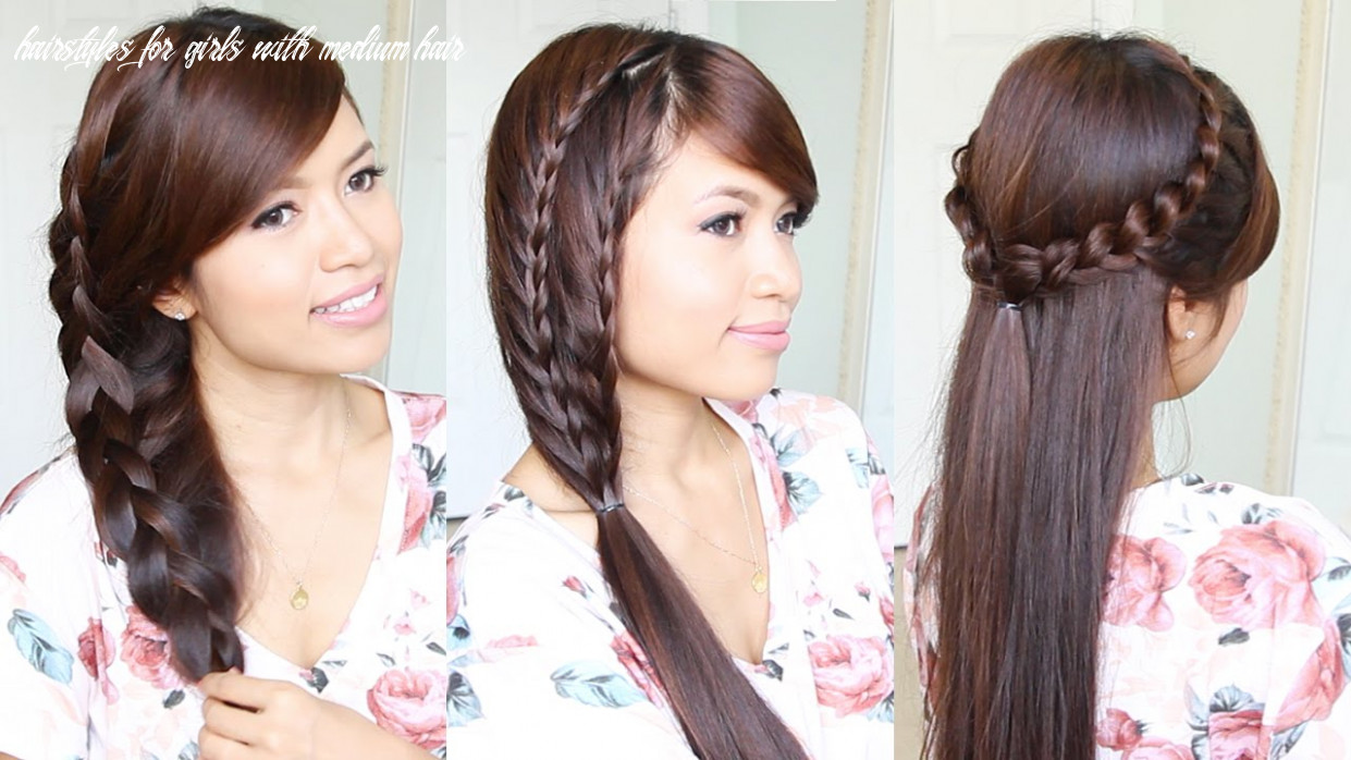 8 cute & easy summer hairstyles for medium to long hair hairstyles for girls with medium hair