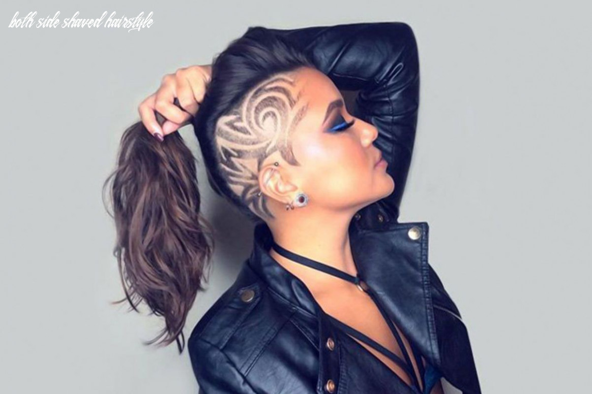 8 cute & rebellious half shaved head hairstyles for modern girls both side shaved hairstyle
