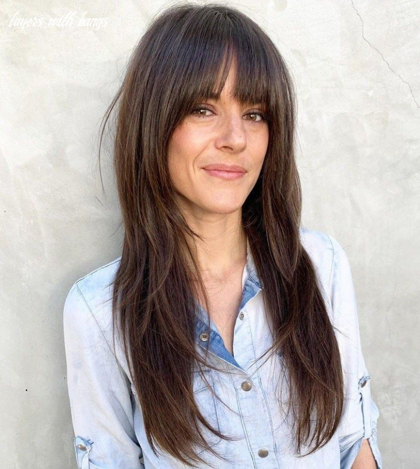 8 cute and effortless long layered haircuts with bangs   long