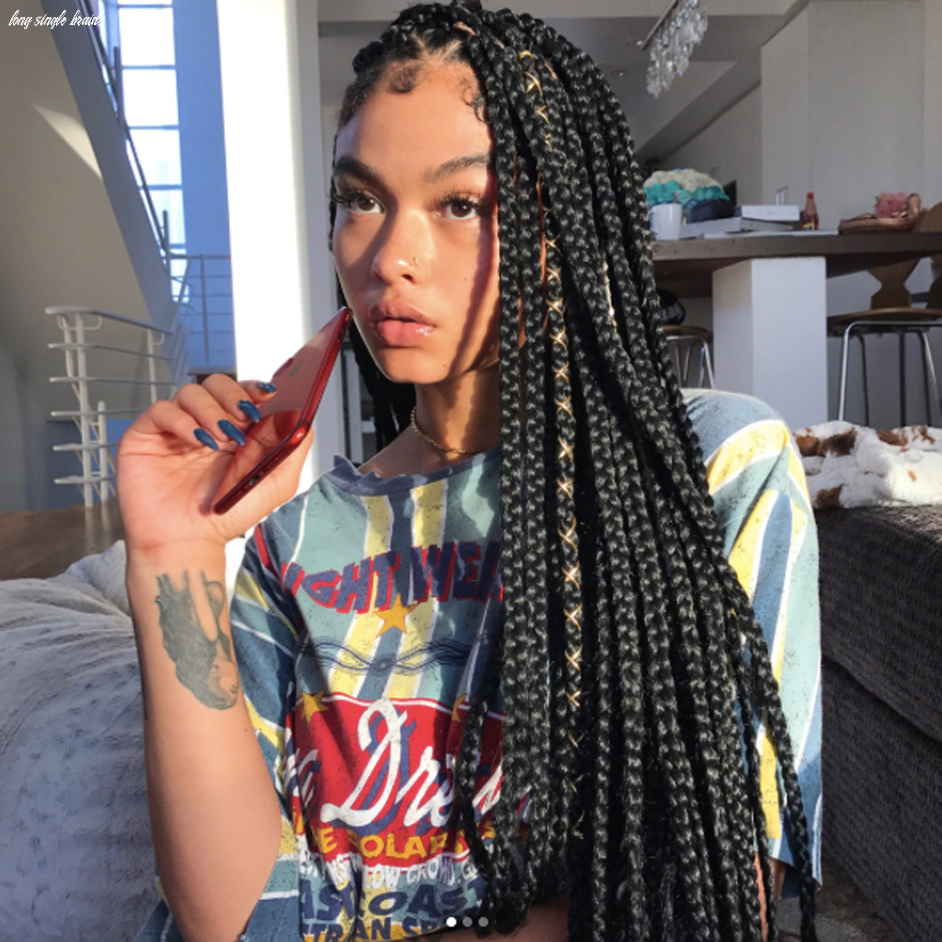 9 dope box braids hairstyles to try   allure long single braids