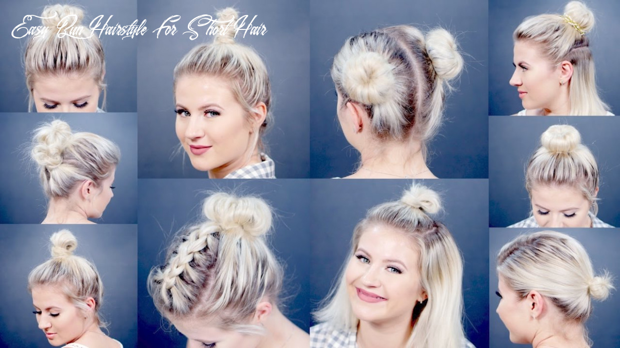 9 easy different bun hairstyles for short hair   milabu easy bun hairstyle for short hair