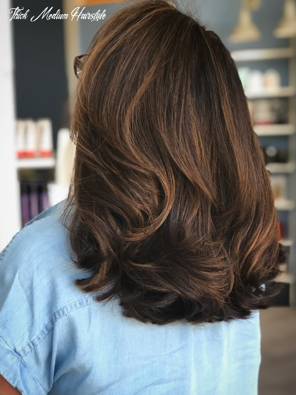 9 gorgeous medium hairstyles for thick hair women   hairdo hairstyle thick medium hairstyle