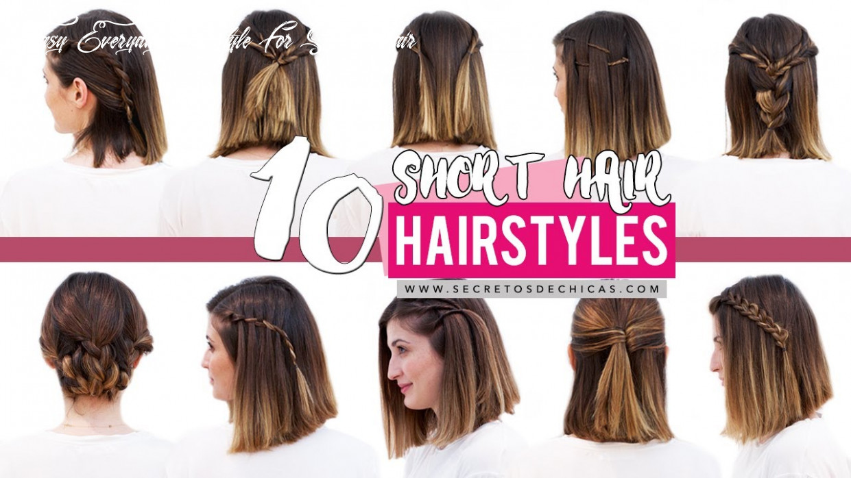 9 quick and easy hairstyles for short hair | patry jordan easy everyday hairstyle for short hair