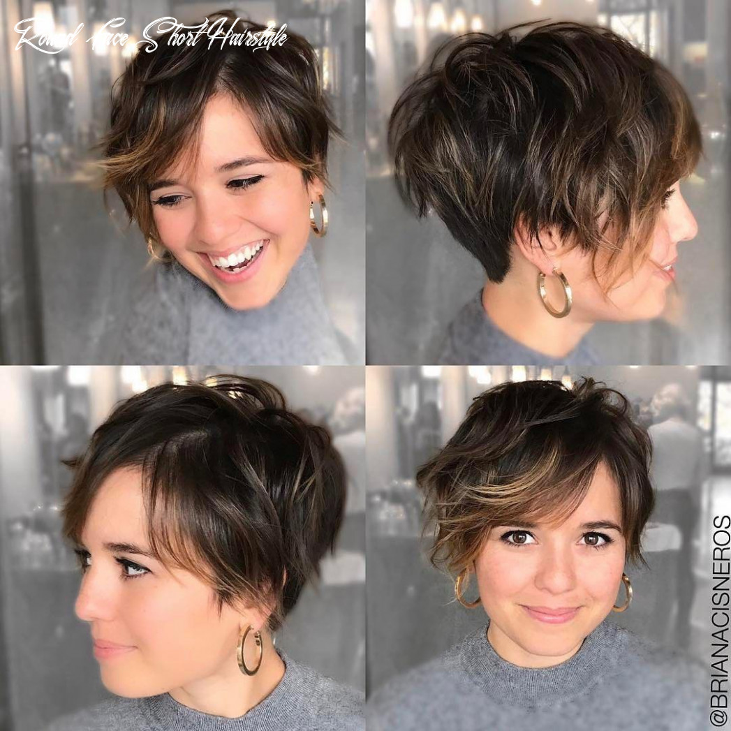 9 short hairstyles for round faces with slimming effect hadviser round face short hairstyle