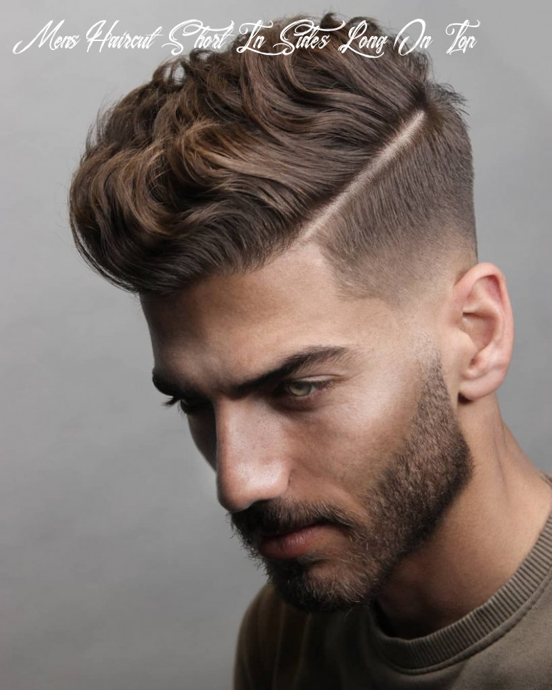9 short on sides long on top haircuts for men   man haircuts mens haircut short in sides long on top