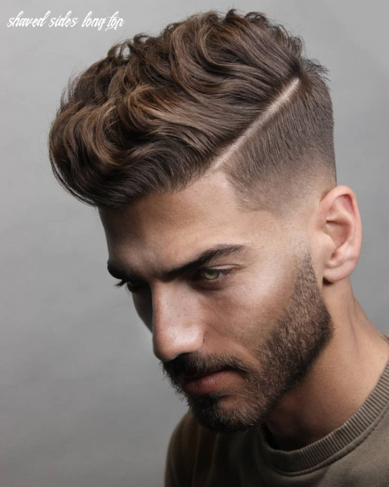 9 short on sides long on top haircuts for men   man haircuts shaved sides long top