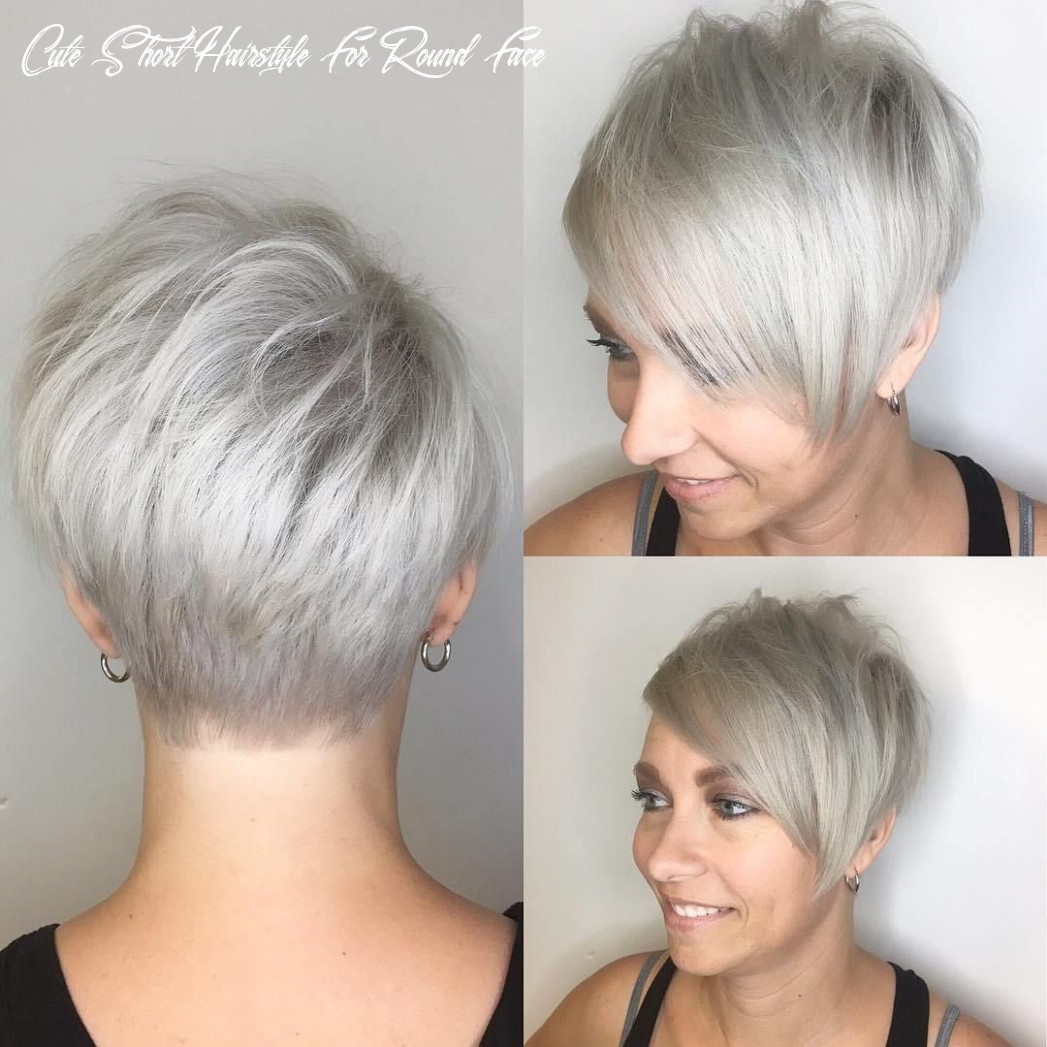 9 super cute looks with short hairstyles for round faces