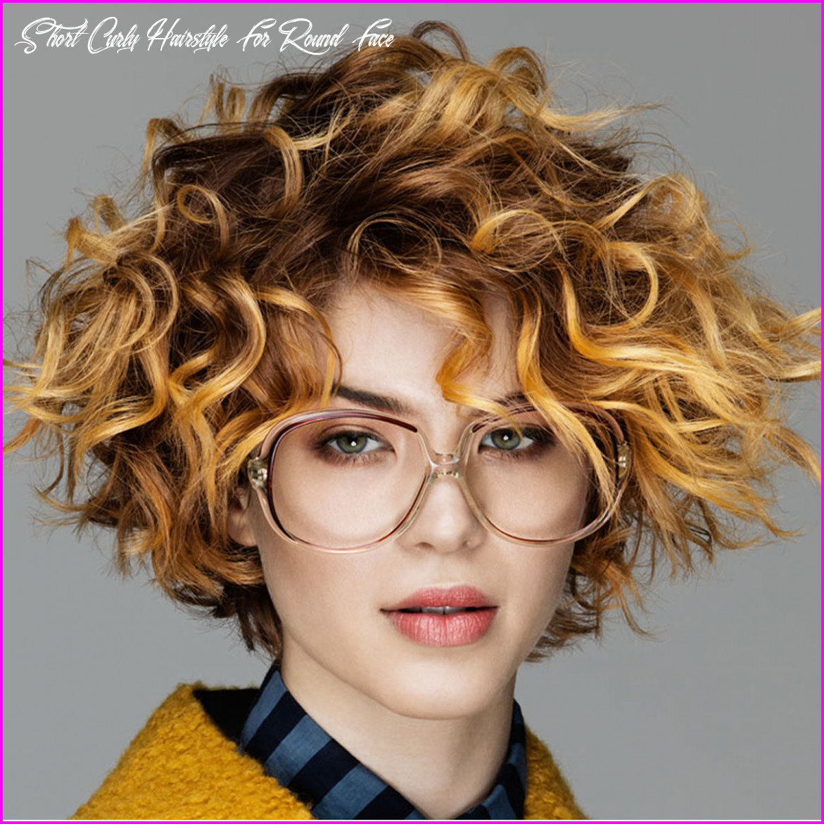 Best short haircuts for curly hair & round face 9 best short