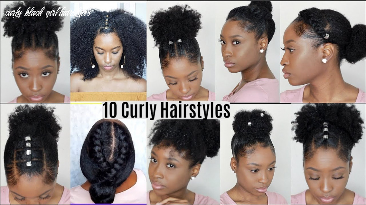 Black hairstyles for natural curly hair curly black girl hairstyles