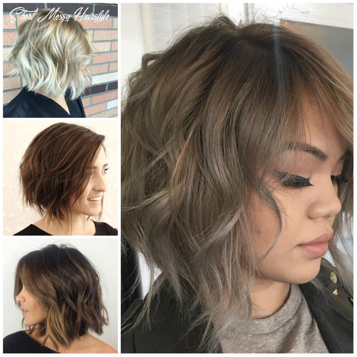 Casual short messy hairstyles for females | 12 haircuts