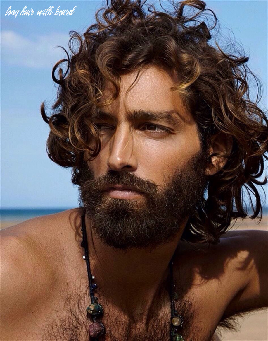 Divine, curly long hair, bearded, shirtless, hairy chest | long