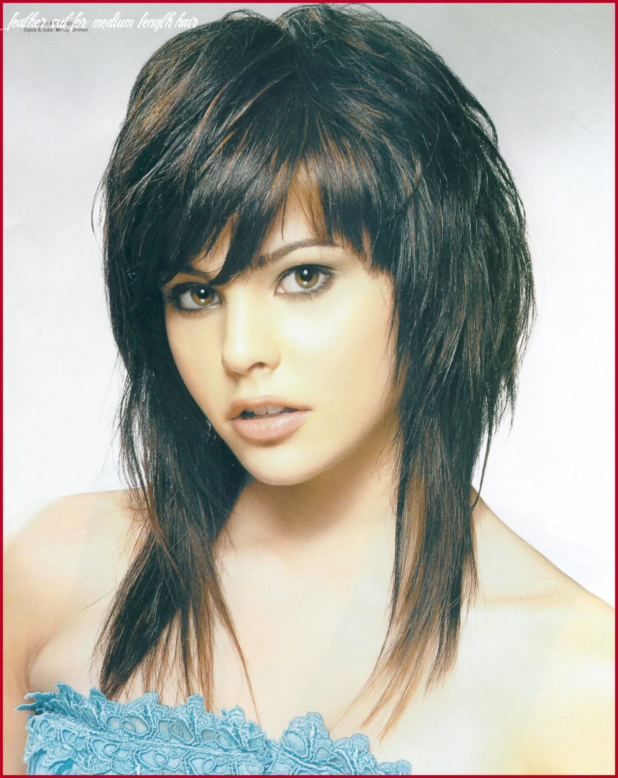 Feather bangs hairstyle 10 feather cut hairstyles for medium