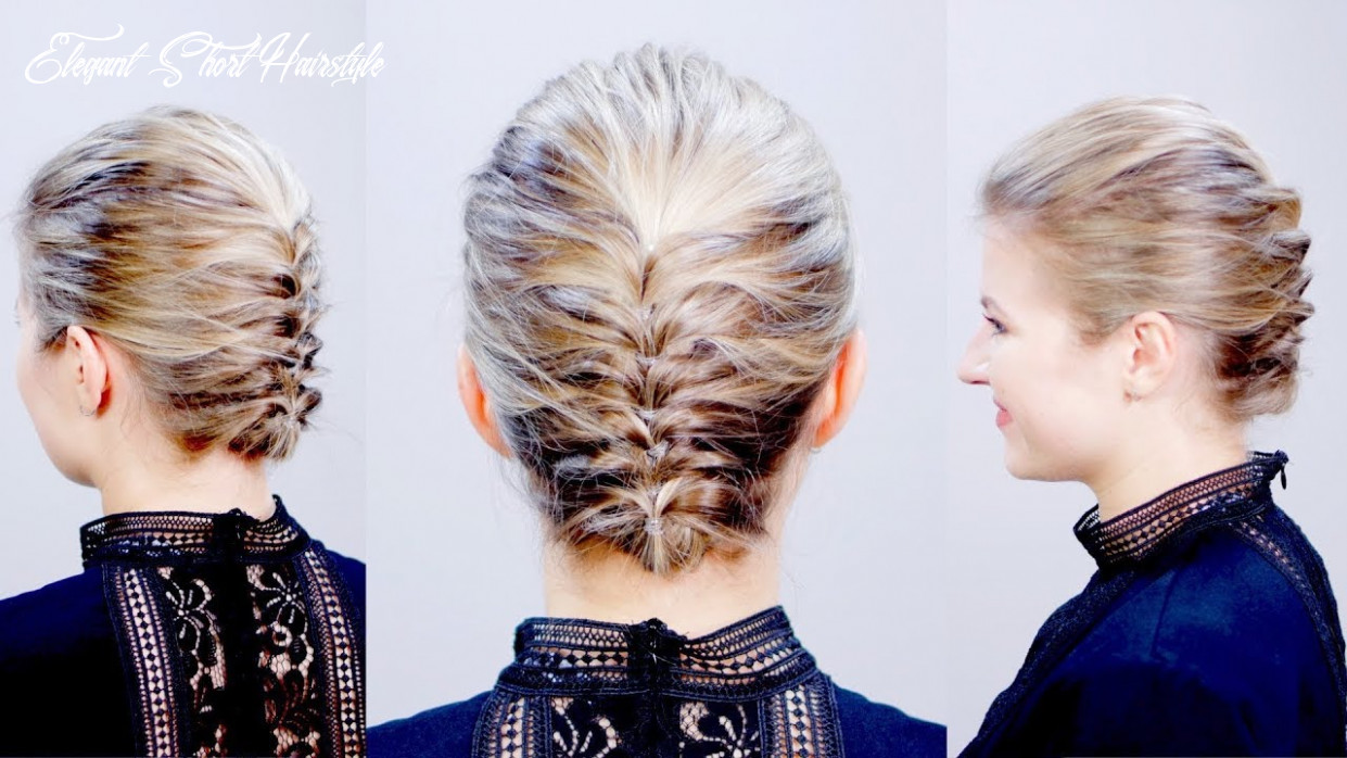 Hairstyle of the day: easy elegant textured updo for short hair | milabu elegant short hairstyle