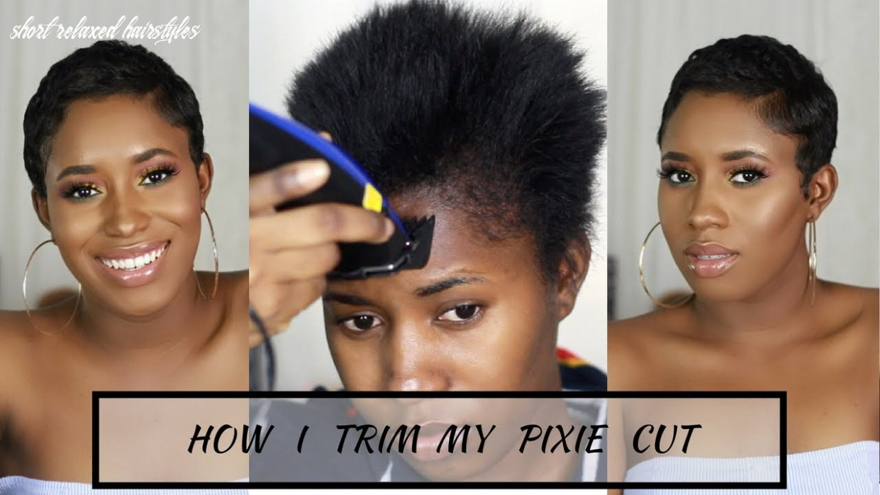 How i cut, relax & style my short hair at home|| pixie cut short relaxed hairstyles