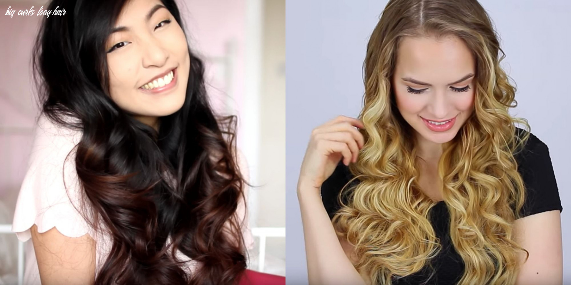 How to curl long hair quick and easy ways to curl long hair big curls long hair