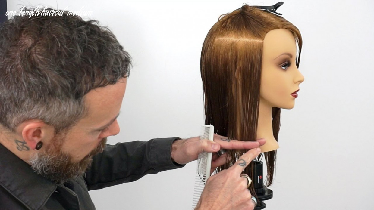 How to hold sections to create a consistent one length haircut one length haircut medium
