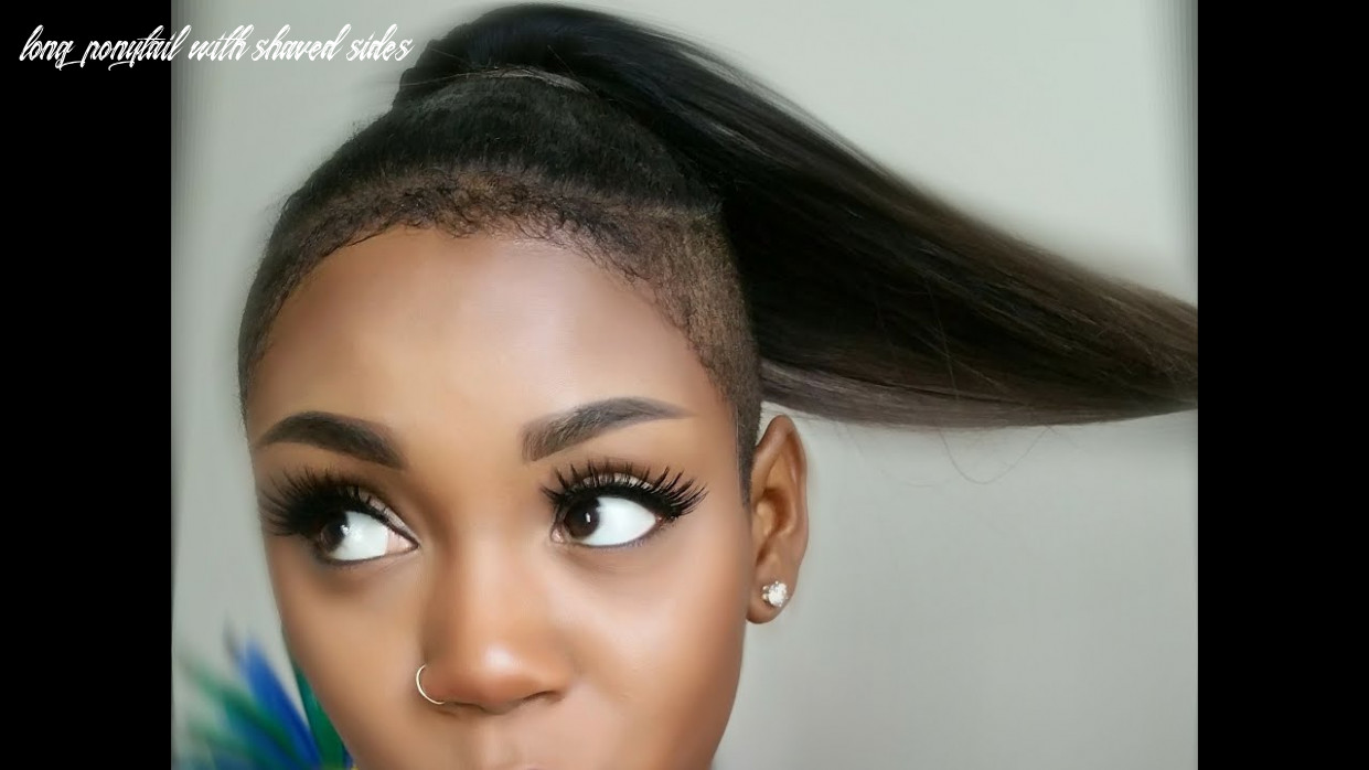 Install your brazilian remy ponytail with shaved sides long ponytail with shaved sides