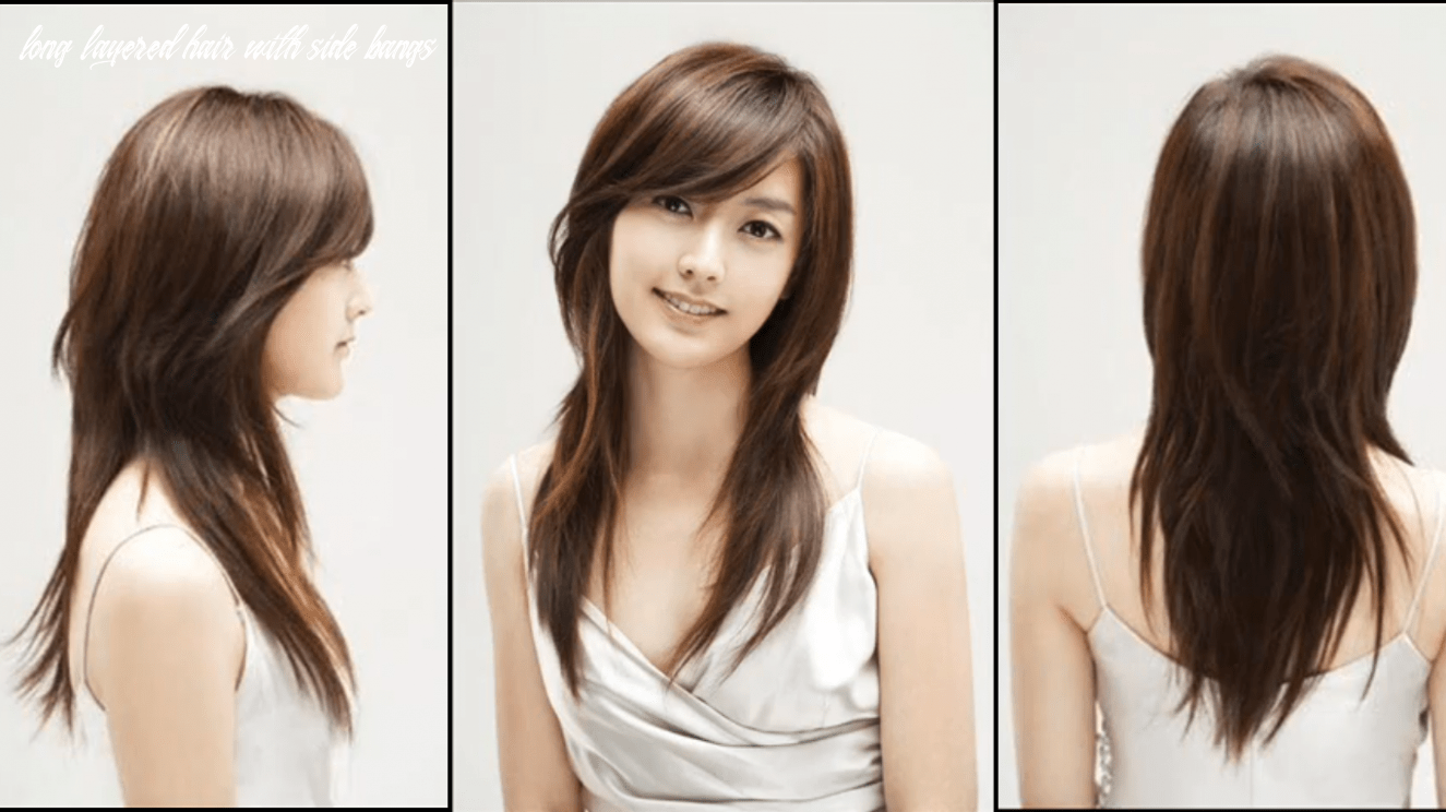 Layered hairstyles for oval faces | long side swept bangs | oval