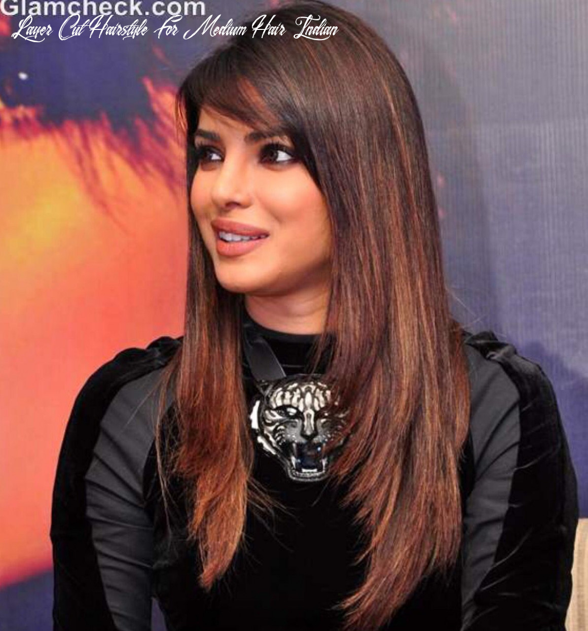 Long layers with side swept bangs!! ?   indian hair highlights