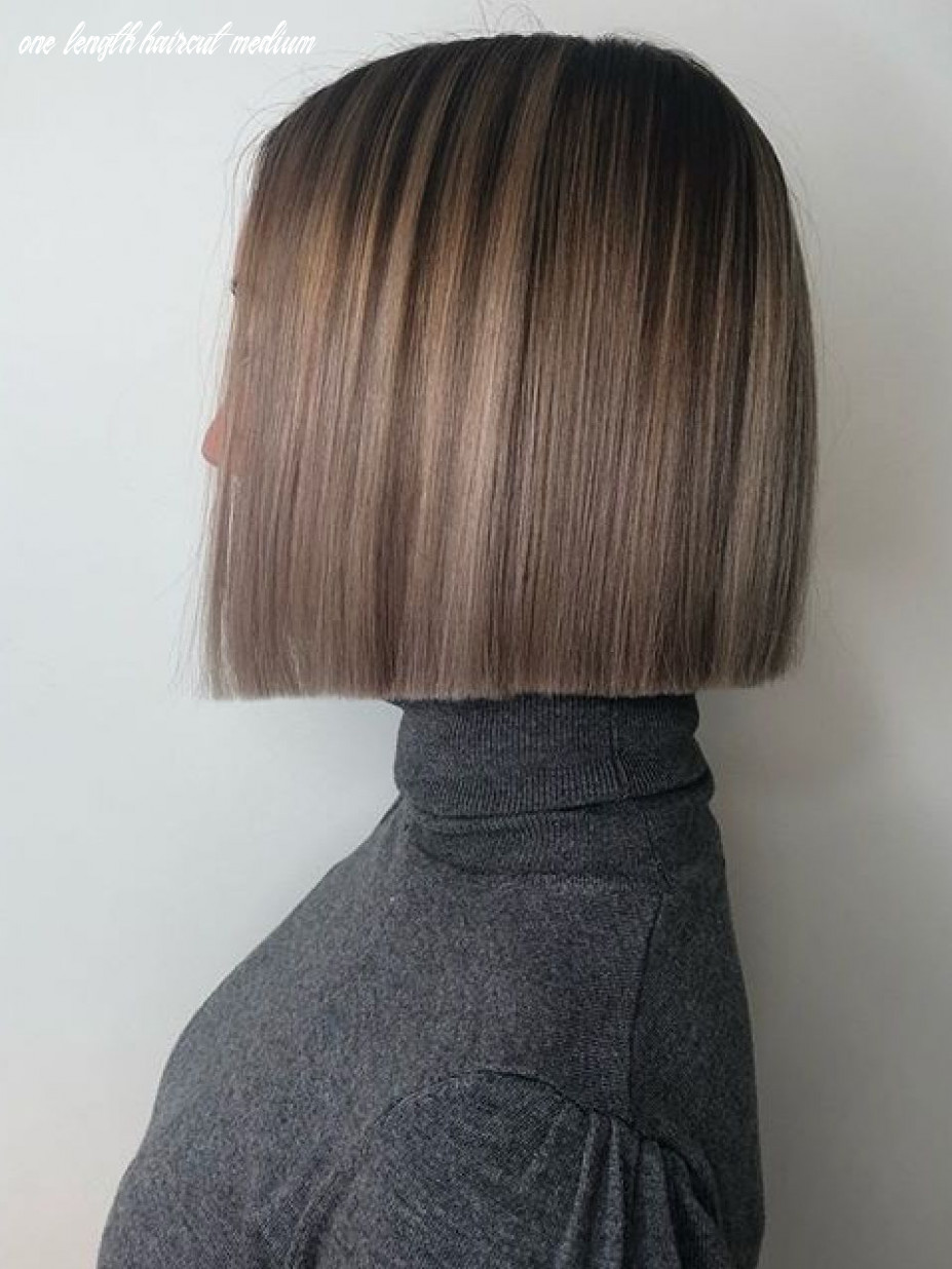 Love this color | one length haircuts, one length hair, hair styles one length haircut medium