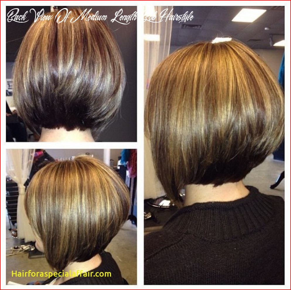 Medium length hairstyle back view back view of medium length bob hairstyle
