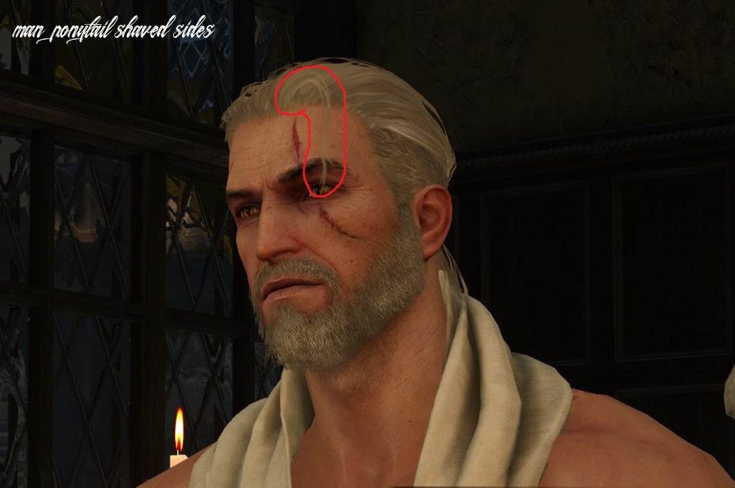 Mod request] remove piece of hair on shaved except for ponytail