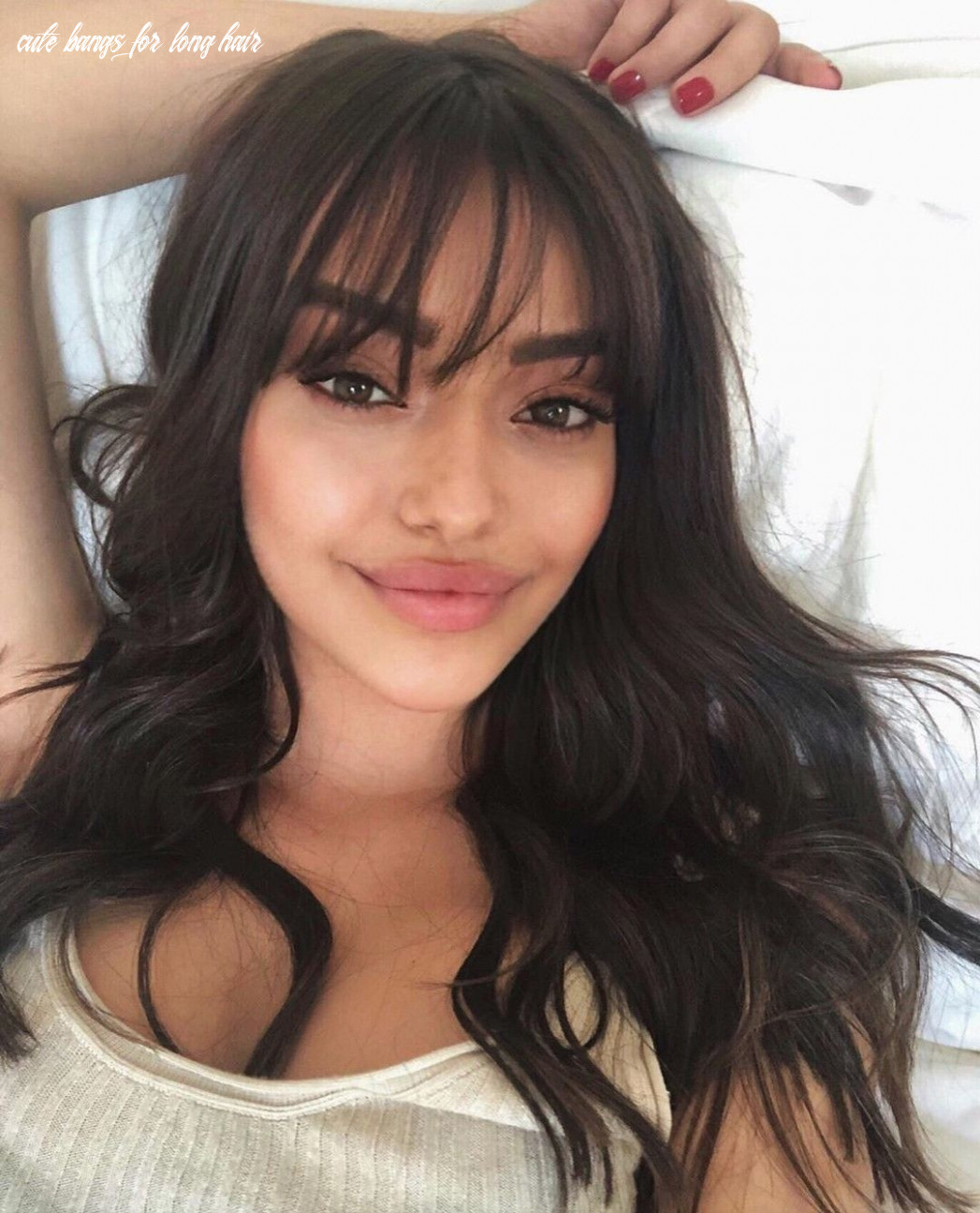 Pin by heillys cátala on likes in 8 | long hair with bangs