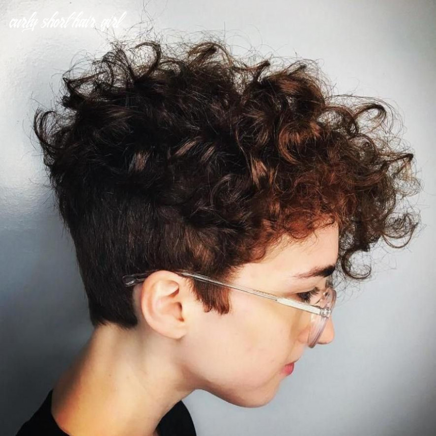 Pin on beauty curly short hair girl